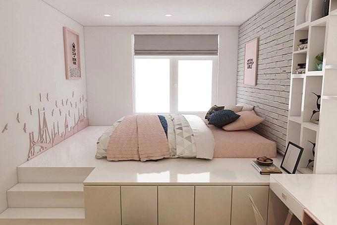thiết kế thi công nội thất phòng ngủ nhỏ 8m2