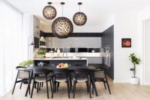 mẫu thiết kế nội thất phòng ăn hiện đại phong cách Nhật Bản