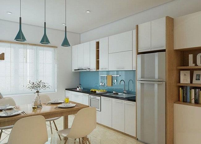 mẫu thiết kế nội thất phòng bếp phong cách Bắc Âu