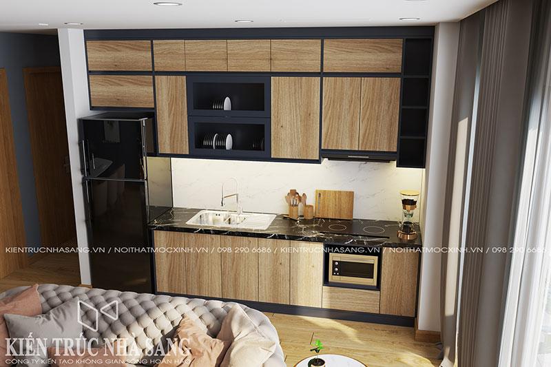 mẫu thiết kế tủ bếp hiện đại lạ mắt