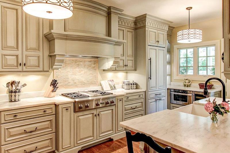 mẫu thiết kế tủ bếp tân cổ điển đẳng cấp