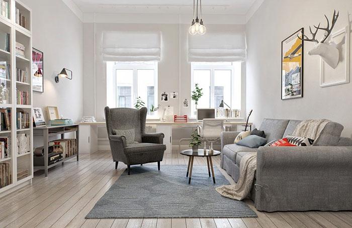 phong cách thiết kế nội thất chật liệu tự nhiên