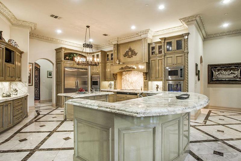 thiết kế nội thất bếp tân cổ điển đẳng cấp sang trọng