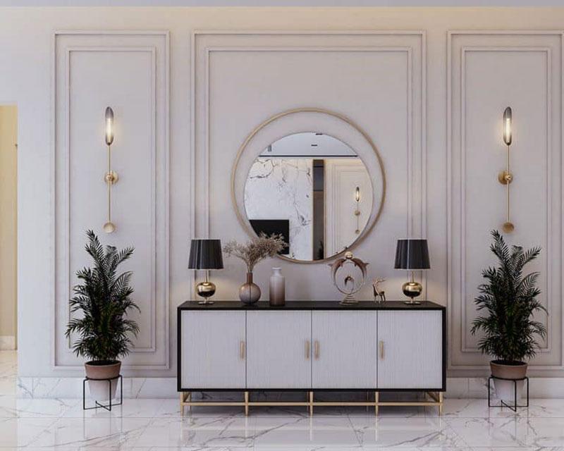 mẫu bàn console đẹp cho không gian nội thất Châu Âu 1