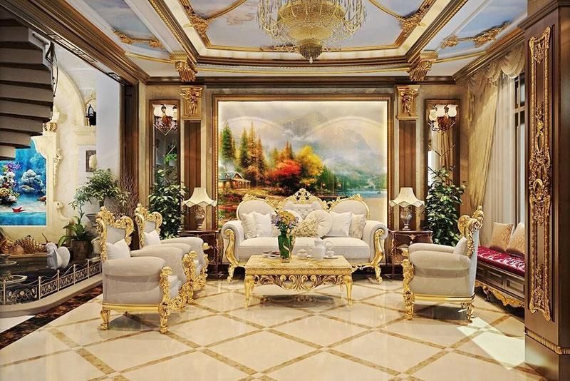 mẫu thiết kế nội thất sa hoa của phong cách tân cổ điển