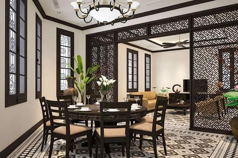phong cách nội thất indochina ấn tượng