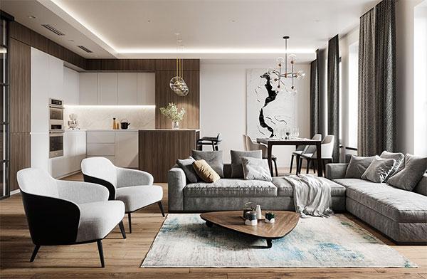 thiết kế nội thất hiện đại tinh tế
