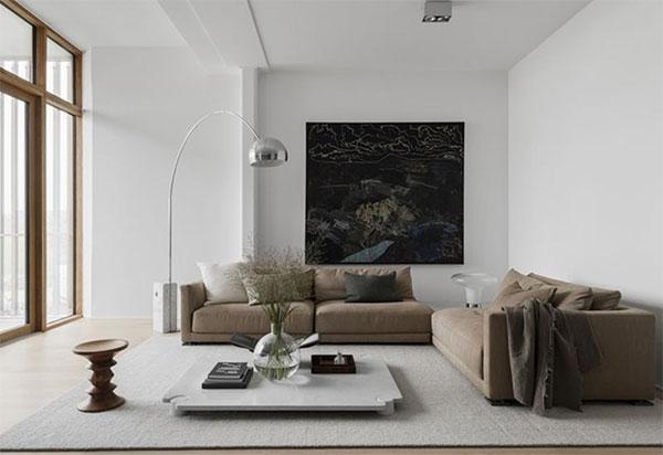 thiết kế nội thất màu sắc đơn giản hài hòa