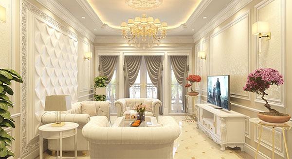 thiết kế nội thất phong cách cổ điển sang trọng đẳng cấp