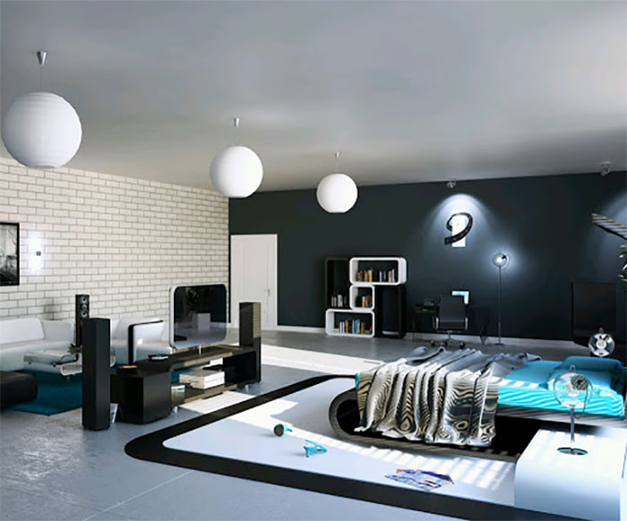 thiết kế nội thất phong cách công nghệ hi-tech