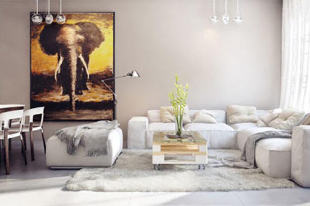 thiết kế nội thất sử dụng đồ dùng kim loại nổi bật không gian