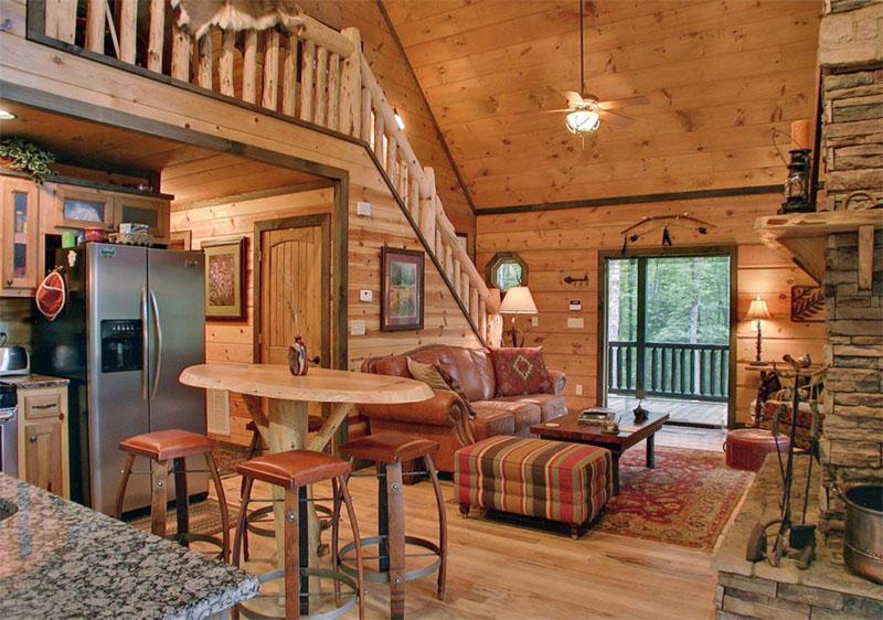 nội thất gỗ thông sử dụng cho toàn bộ nhà