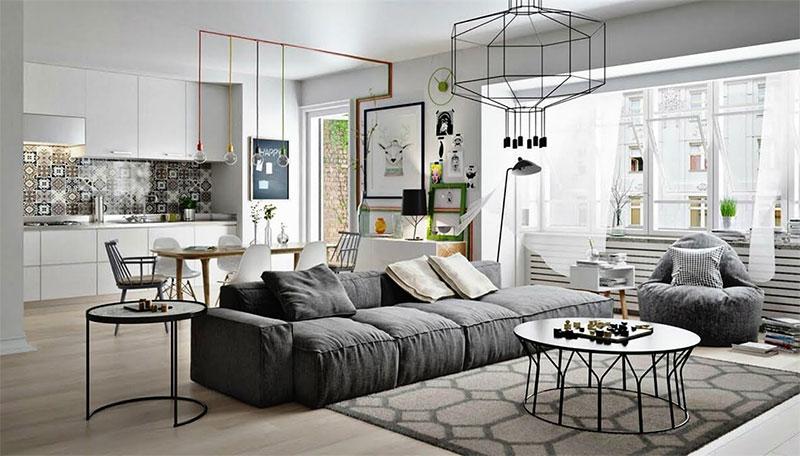 nội thất theo phong cách Scandinavian đơn giản tinh tế