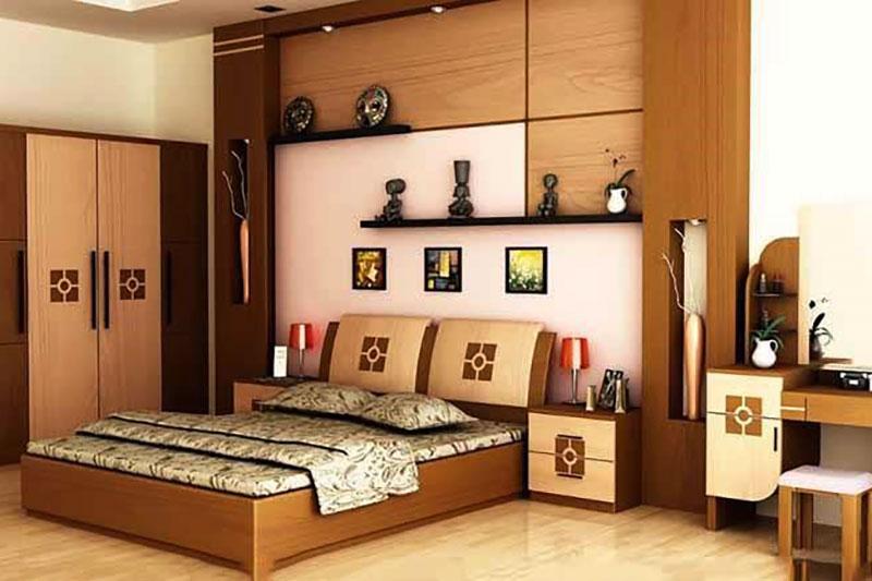 sử dụng gỗ tự nhiên cho không gian phòng ngủ