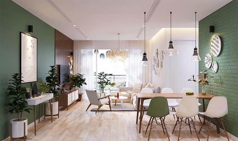 thiết kế nội thất phong cách Scandinavian kết hợp màu sắc hài hòa tự nhiên