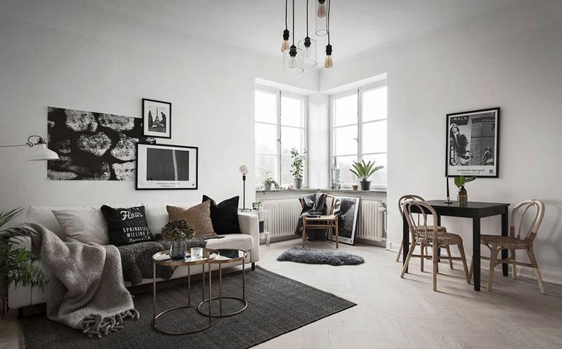 thiết kế nội thất scandinavian đơn giản hài hòa