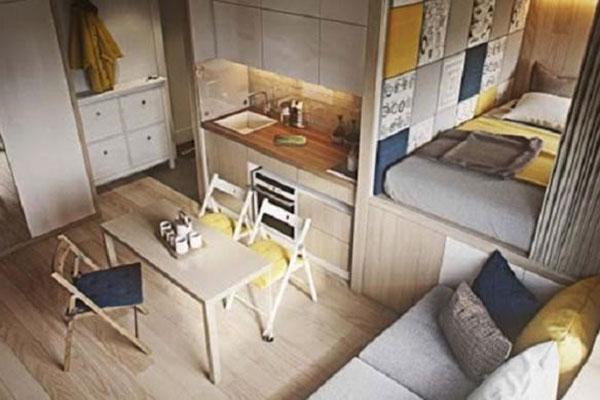 cách tối ưu không gian phòng ngủ nhỏ
