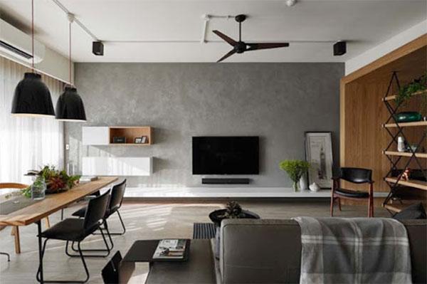 nội thất sử dụng ánh sáng làm điểm nhấn cho căn hộ