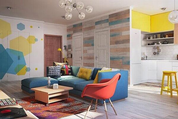 phong cách nội thất với nhiều chi tiết nổi bật phá cách