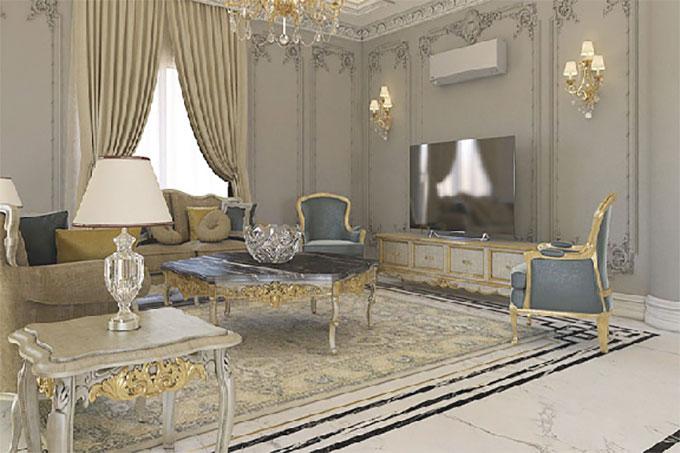 nội thất biệt thự phong cách tân cổ điển sang trọng
