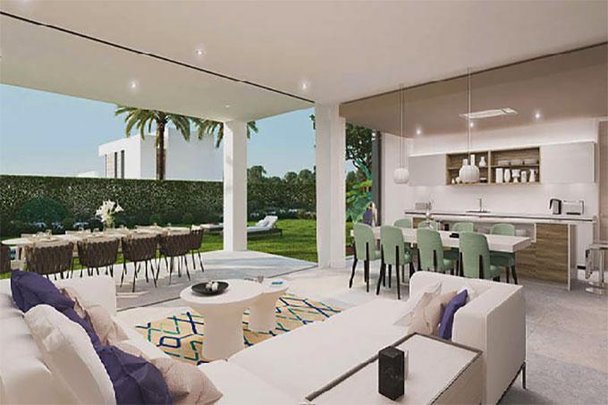 thiết kế nội thất không gian mở cho biệt thự