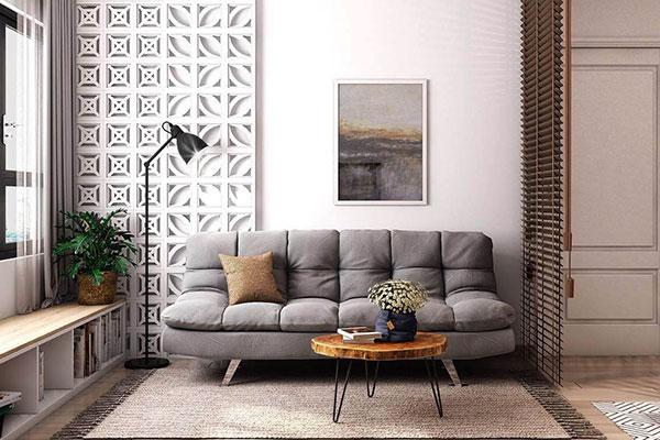 mẫu nội thất phòng khách nhà cấp 4 hiện đại