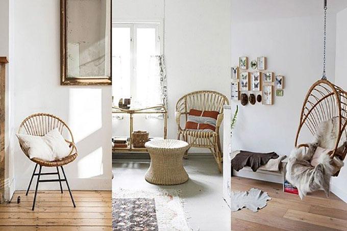 chọn những đồ nội thất làm bằng chất liệu tự nhiên cho ngôi nhà