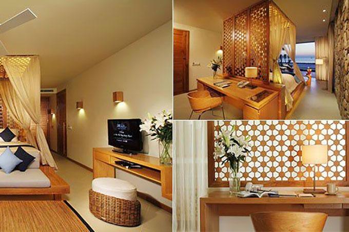 mẫu nội thất resort sử dụng màu sắc hài hòa