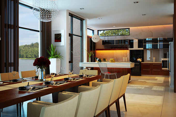 mẫu thiết kế phòng ăn đẹp mắt
