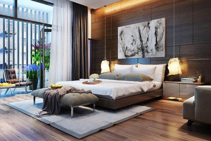 mẫu thiết kế phòng ngủ hiện đại cho nhà đẹp