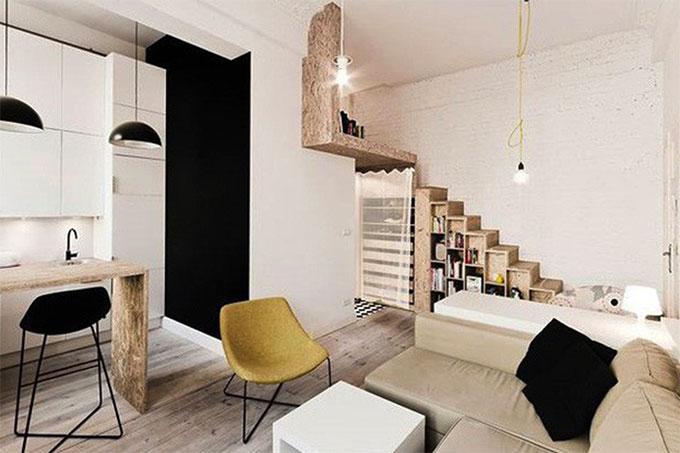 mẹo thiết kế nội thất hợp lý cho nhà nhỏ
