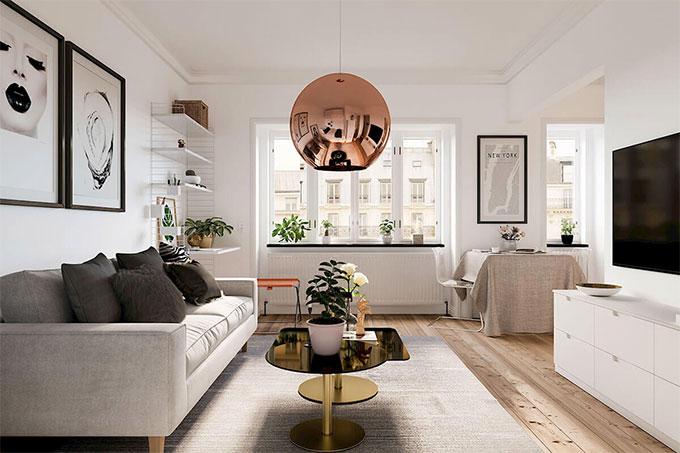 nội thất phòng khách nhờ thiết kế thông thoáng và đẹp mắt