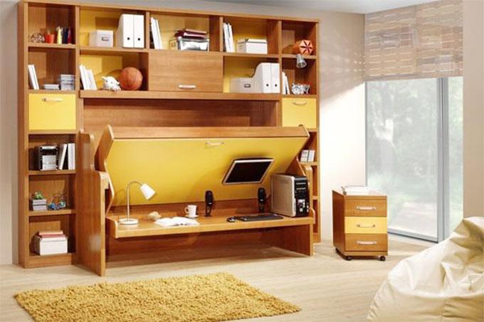 nội thất tận dụng màu sắc để tạo điểm nhấn