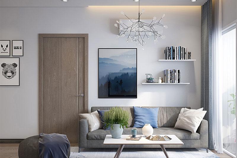 thiết kế nội thất hài hòa về màu sắc kiểu dáng và chât liệu của đồ nội thất