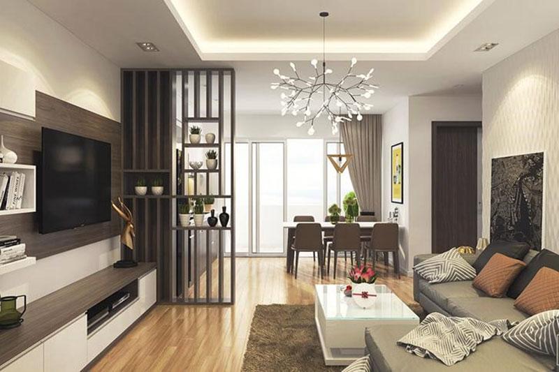 thiết kế nội thất phong khách căn hộ chung cư