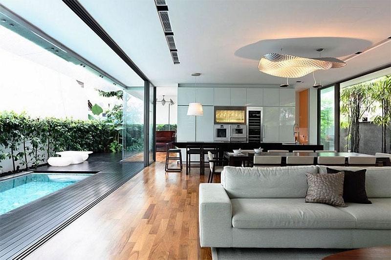 thiết kế nội thất theo phong cách mở