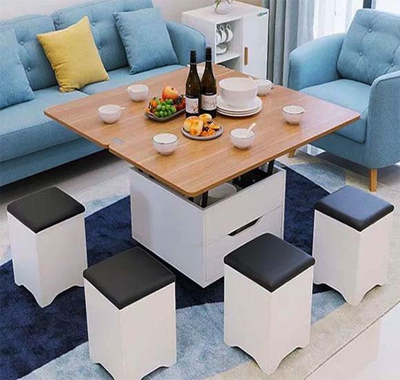 mẫu thiết kế nội thất bàn trà thông minh