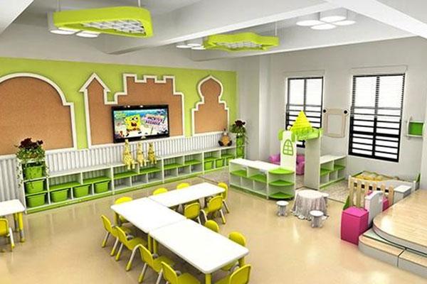 mẫu thiết kế nội thất mầm non hiện đại