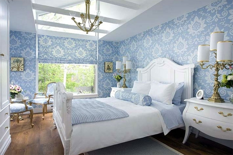nội thất sử dụng giấy dán tường