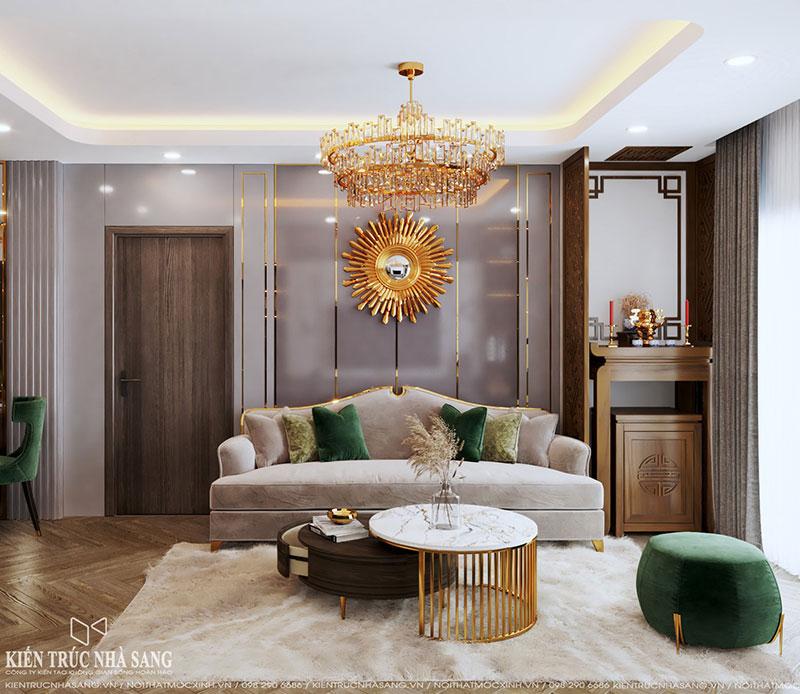 thi công nội thất chung cư phong cách luxury