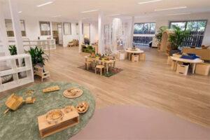 thiết kế nội thất không gian trường mầm non khoa học