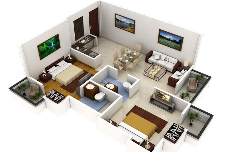 những ưu điểm tuyệt vời của thiết kế nội thất 3d