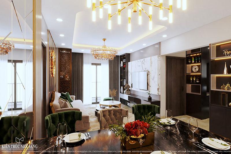 thiết kế thi công nội thất chung cư phong cách hiện đại