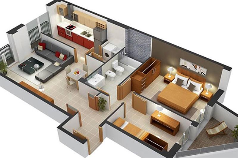 tiết kiệm chi phí hoàn thiện căn nhà nhờ thiết kế 3d