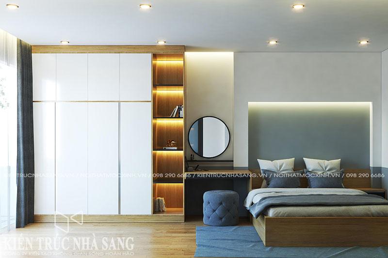 bố trí nội thất phòng ngủ hợp lý cho phòng hẹp nhà phố