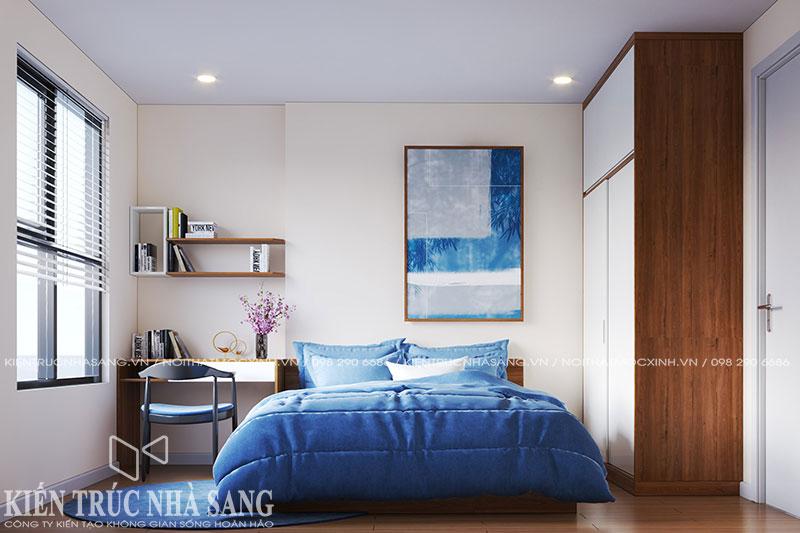 mẫu nội thất phòng ngủ hiện đại chung cư kosmo