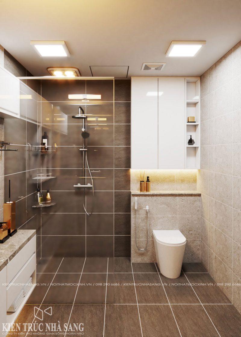 mẫu thiết kế nhà vệ sinh 1 tầng tiện nghi