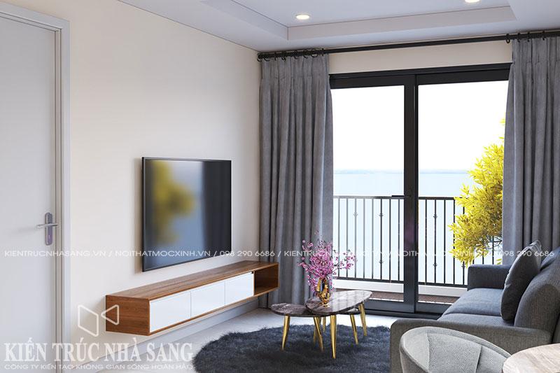 mẫu thiết kế nội thất phòng khách đơn giản