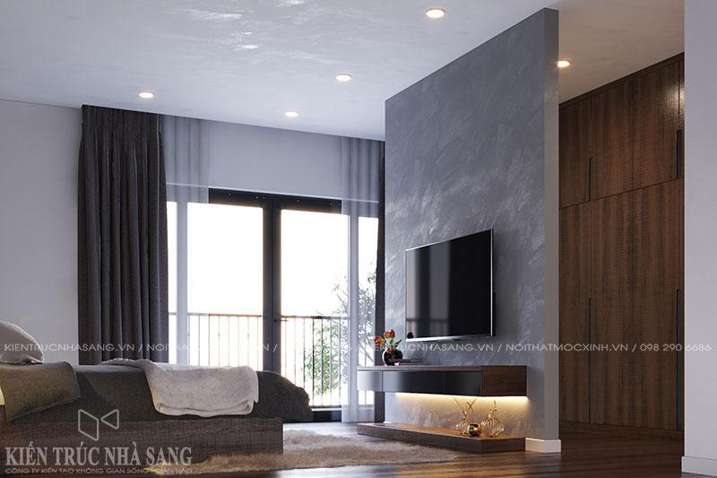 mẫu thiết kế nội thất phòng ngủ hiện đại nhà 4 tầng