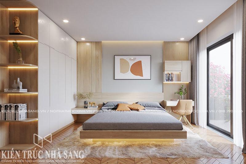 mẫu thiết kế nội thất phòng ngủ nhà 1 tầng